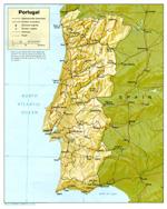 Landenvergelijk: Spanje - Portugal- Kaart Portugal
