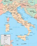 Italië versus Tsjechië - Kaart van Italië