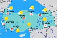Turkije versus Bulgarije - Kaart van Turkije