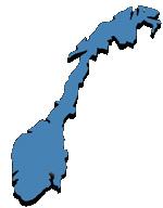 Noorwegen versus Zweden - Kaart van Noorwegen