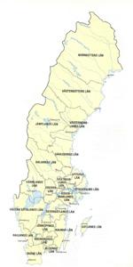 Landenvergelijk: Kaart van Zweden