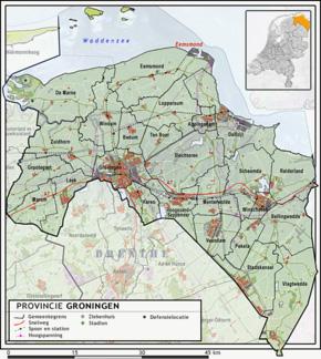 Groningen versus Ostfriesland - Kaart van Groningen