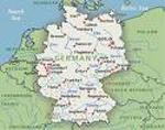 Duitsland versus België - Kaart van Duitsland