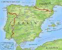 Spanje versus Portugal - Kaart van Spanje